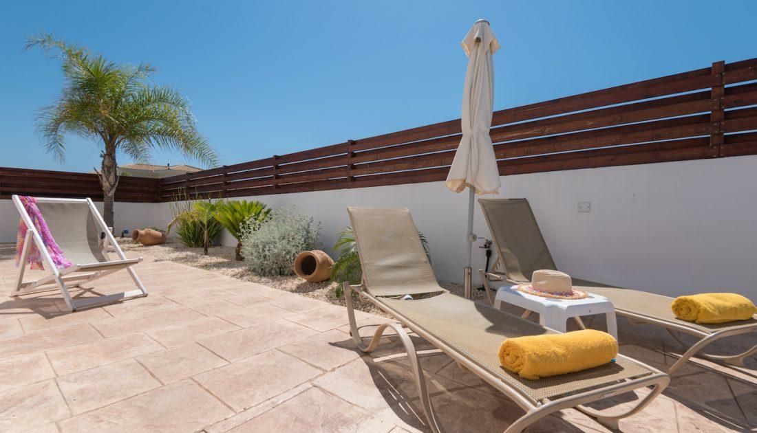 Sunbeds in Cyprus Villas