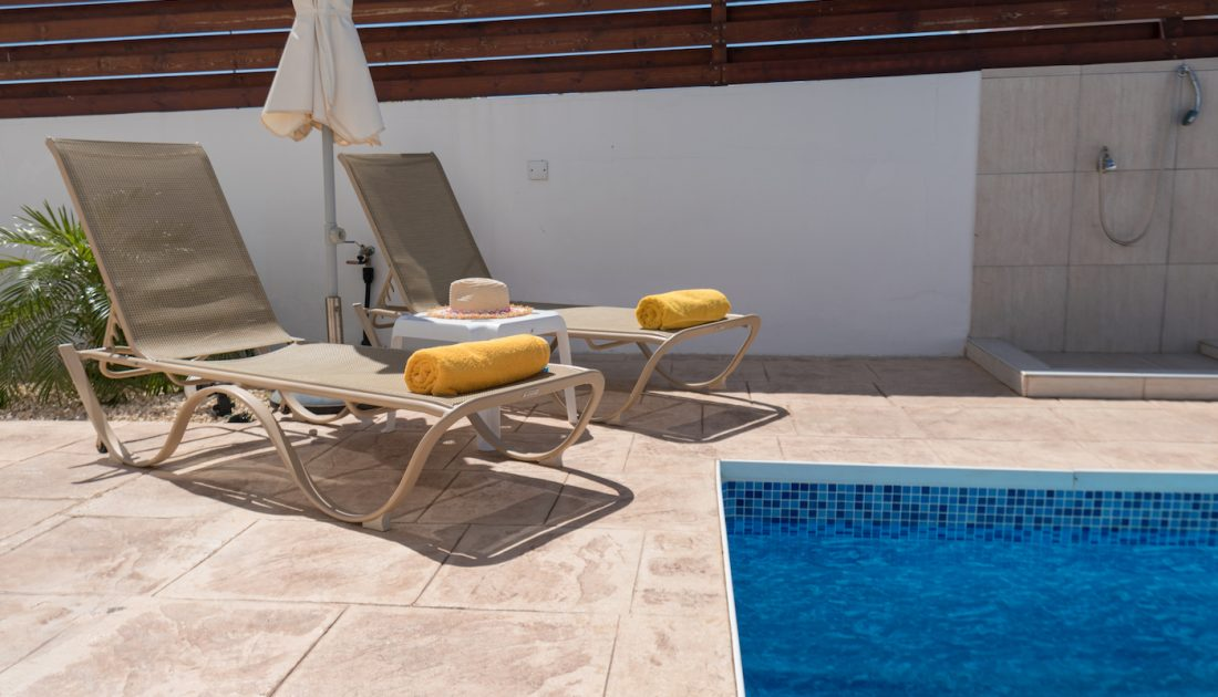 Sunbeds in Cyprus Villas